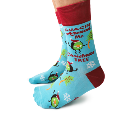 "Unisex ""Santa Claus"" Cotton Crew Socks by Good Luck Sock"