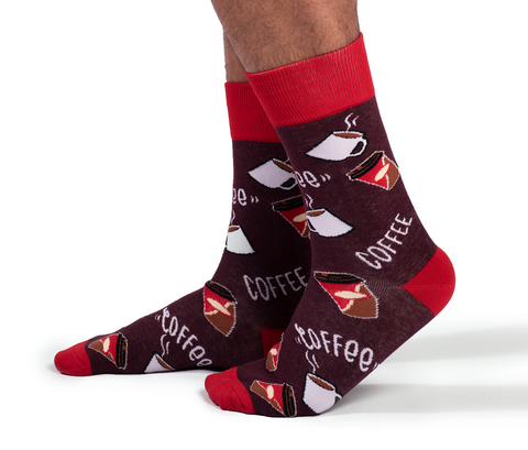"Unisex ""Cream and sugar"" Cotton Crew Socks by Uptown Sox"