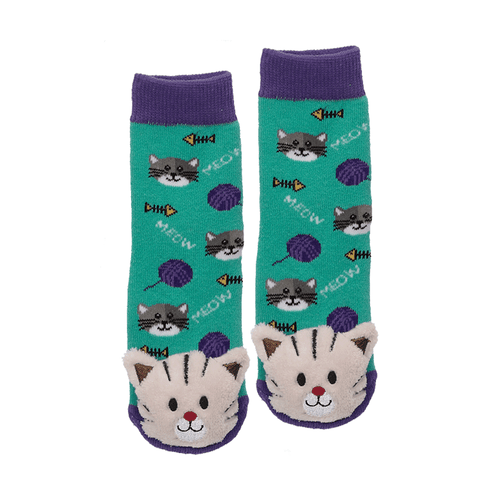 "Lil Traveller Kids ""Cat"" Socks by Parkdale Novelty"