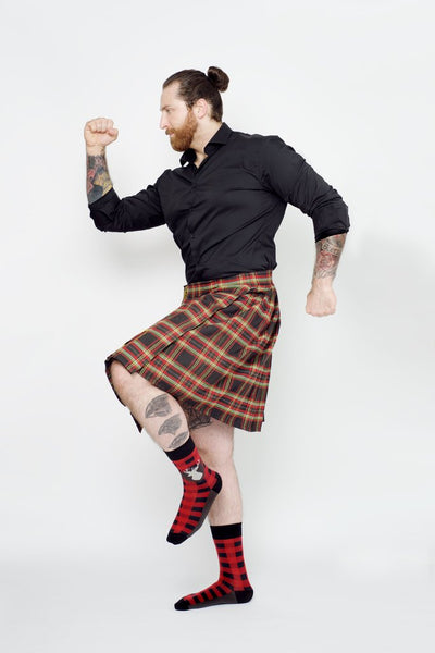 "Men's ""Tartan Buck"" Cotton Crew Socks by Uptown Sox"