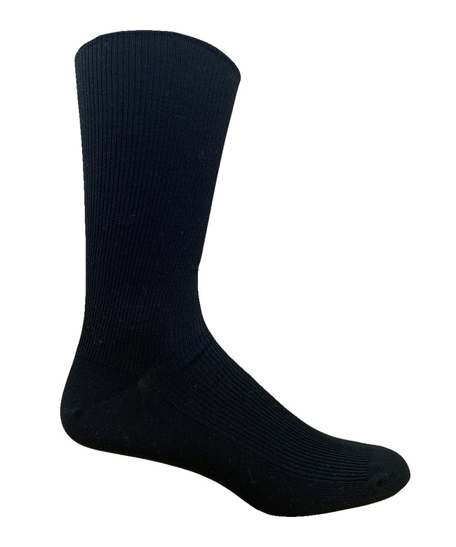 Men's Non-Elastic Cotton Dress Crew Sock- 2PK - Made in Portugal