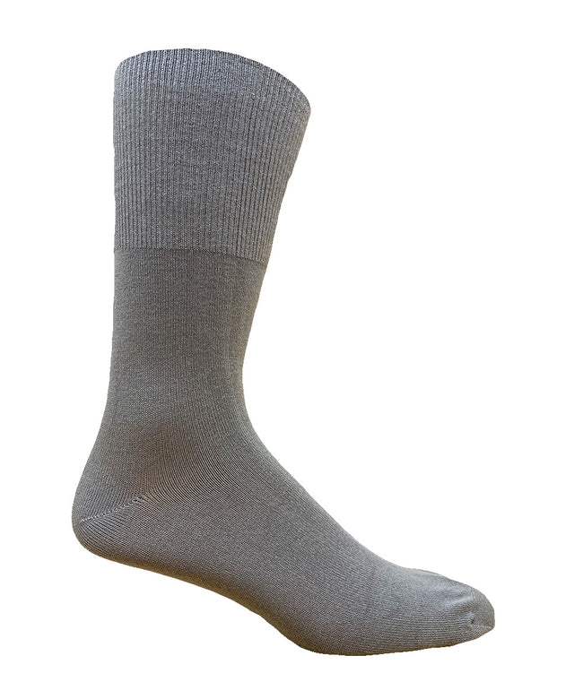 Men's Non-Elastic Bamboo Dress Crew Sock- 2PK - Made in Portugal