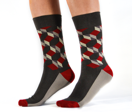"Men's ""Heavy Petal"" Crew Socks by Uptown Sox"