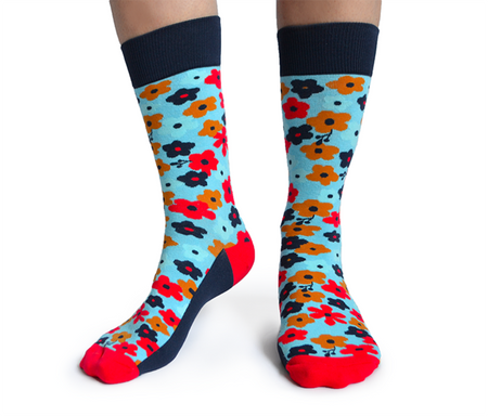 "Men's ""Officially Retired"" Cotton Crew Socks by Uptown Sox"