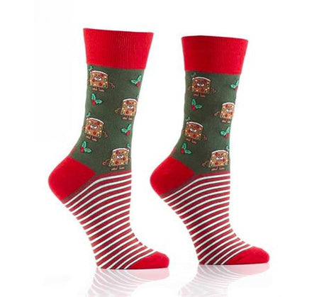 "Women's ""Polar Bears"" Cotton Crew  Socks by Hot Sox"