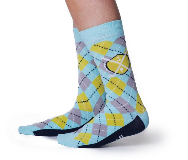 "Men's Golf ""Tee'd Off"" Cotton Crew Socks by Uptown Sox"