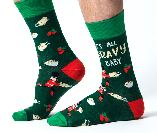 Christmas gravy socks
