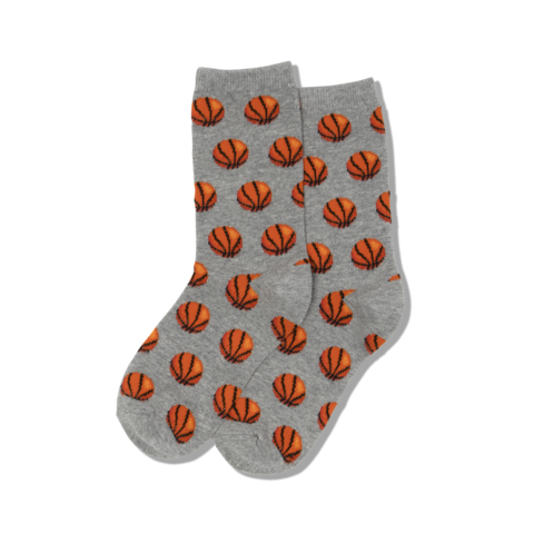 "Kids ""Basketball"" Crew Socks by Hot Sox"