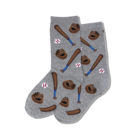 "Kids ""Baseball"" Crew Socks by Hot Sox"