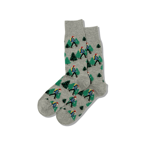 "Men's ""Hiker"" Cotton Crew Socks by Hot Sox"