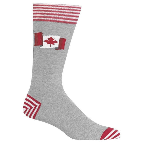 Men's Canadian Flag Crew Socks by Hot Sox