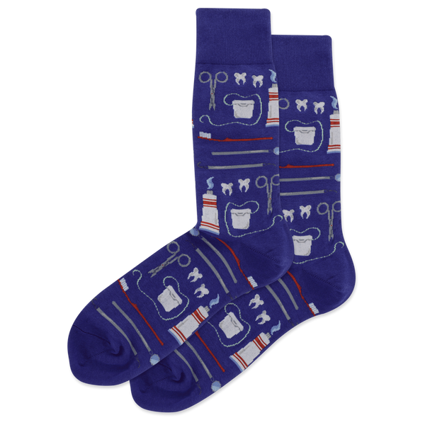 "Unisex ""Dentist"" Cotton Crew Socks by Hot Sox"