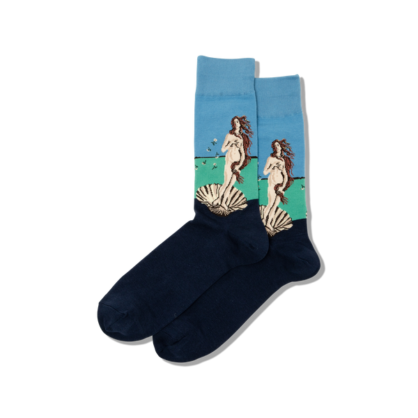 "Unisex ""Botticelli's Birth of Venus"" Cotton Socks by Hot Sox"
