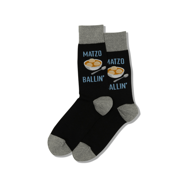 "Men's ""Matzo Ballin'"" Crew Socks by Hot Sox"