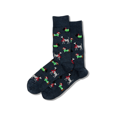 "Men's ""Nutcracker?"" Cotton Crew Socks by Hot Sox"