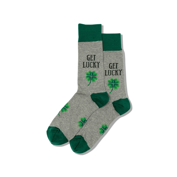 "Unisex ""Get Lucky"" Cotton Crew Socks by Hot Sox"