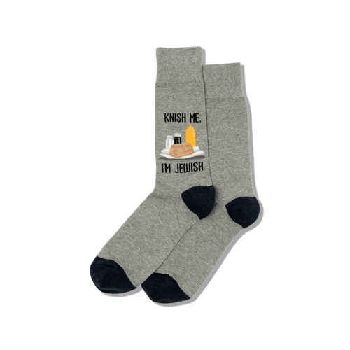 "Unisex ""Knish Me"" Cotton Crew Socks by Hot Sox"