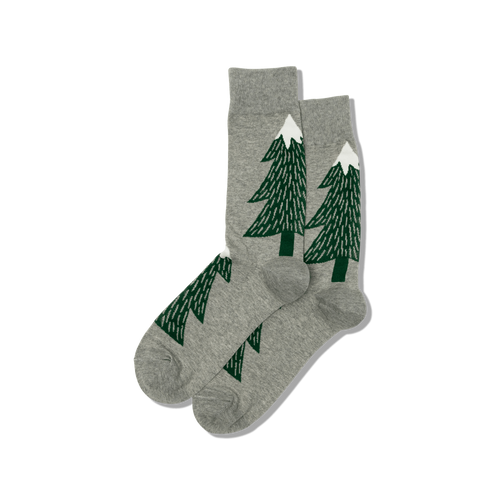 "Men's ""Giant Tree"" Cotton Crew Socks by Hot Sox"