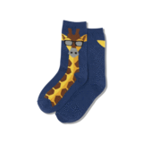 "Kids ""Giraffe"" Crew Socks by Hot Sox"