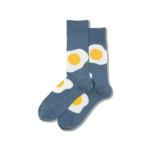 "Men's ""Egg"" Cotton Crew Socks by Hot Sox"