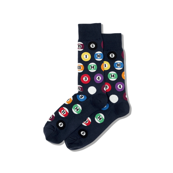 "Men's ""Billiards"" Cotton Crew  Socks by Hot Sox"