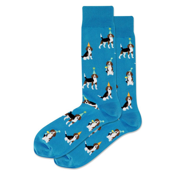 "Unisex ""Party Beagle"" Crew Socks by Hot Sox"