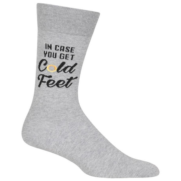 Men's Cold Feet Cotton Dress Crew Socks by Hot Sox