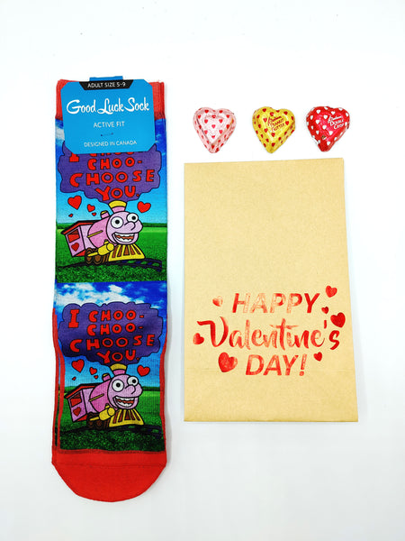 Unisex I Choo Choo Choose You Crew Socks by Good Luck Sock