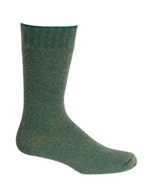 Green wool thermal boot sock