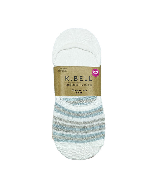 Soft and Dreamy Liner Socks by K Bell (3pk)
