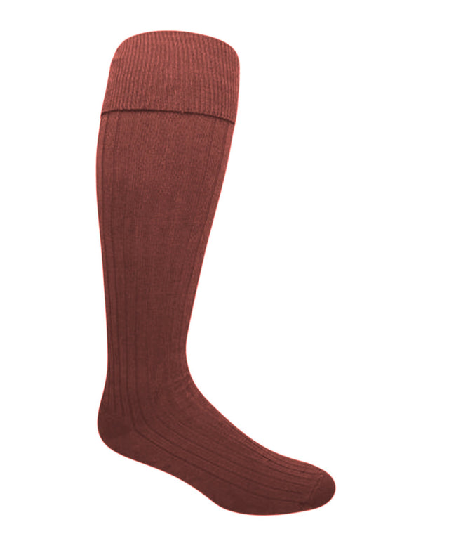 Vagden Bermuda Mercerized Cotton Ribbed Knee-high Sock