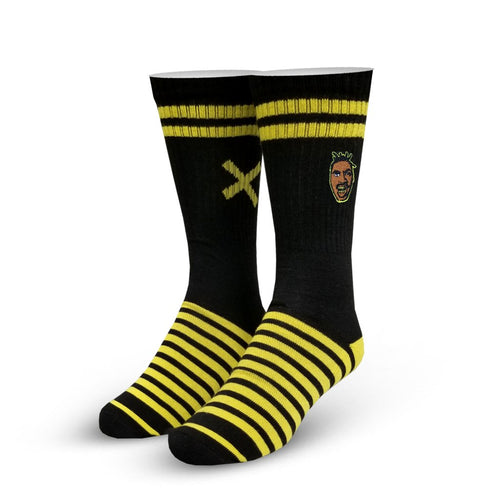 "Men's ""Killa Bee"" Cotton Crew Socks by ODD Sox"