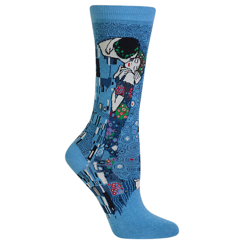 Klimt the kiss blue socks