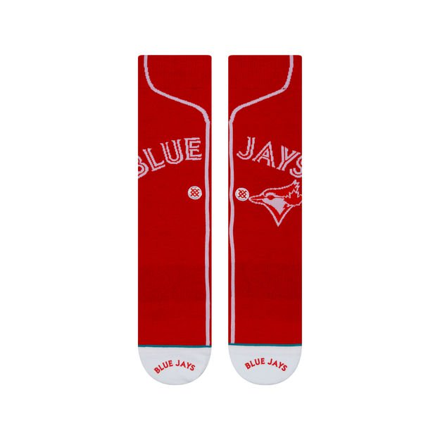Red blue jay socks