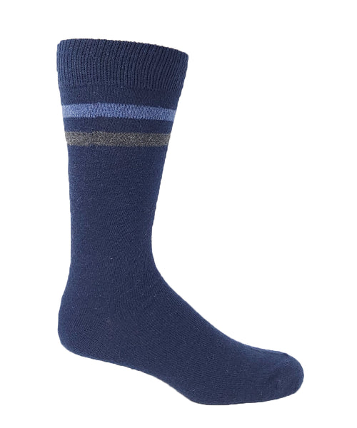 Vagden Men's Top Stripe Angora Blend Socks