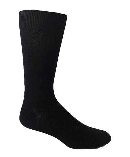 Wellness Men's Non-Elastic Square Pattern Rayon from Bamboo Socks