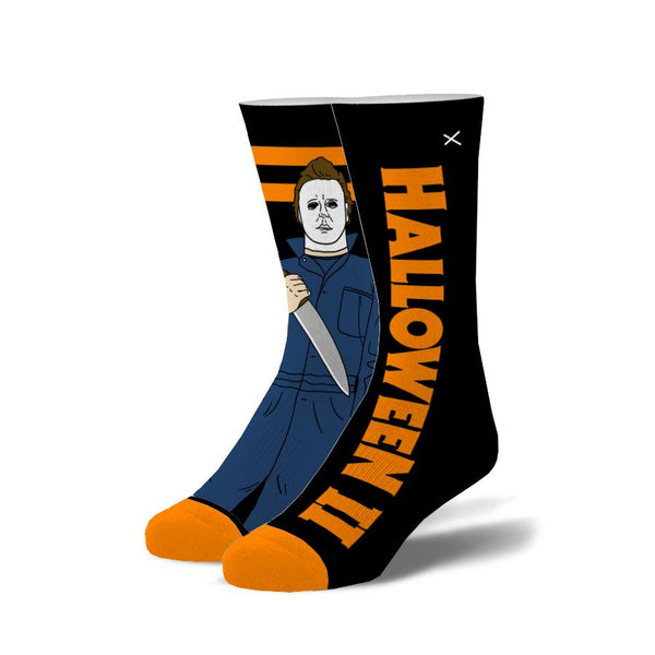 "Men's ""Michael Myers"" Cotton Crew Socks by ODD Sox"