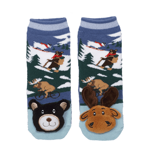 "Lil Traveller Kids ""Mountain Moose/Bear"" Socks by Parkdale Novelty"