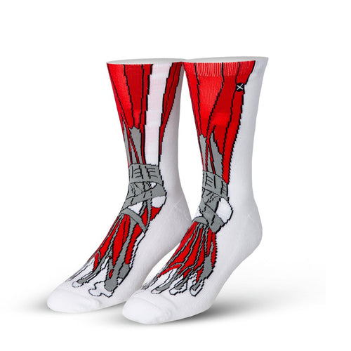 "Men's ""Muscle Feet"" Cotton Crew Socks by ODD Sox"