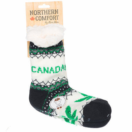 "Northern Comfort Kid's ""Toronto Maple Leafs"" Small Sherpa-Lined Grip Slipper Socks"