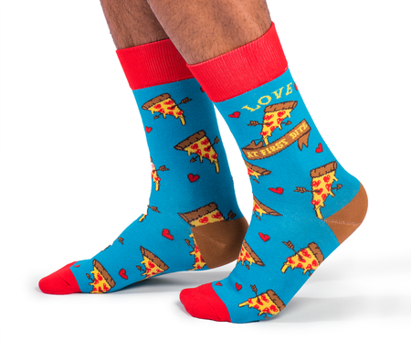 "Women's ""The Cats Meow"" Cotton Crew Socks by Uptown Sox"