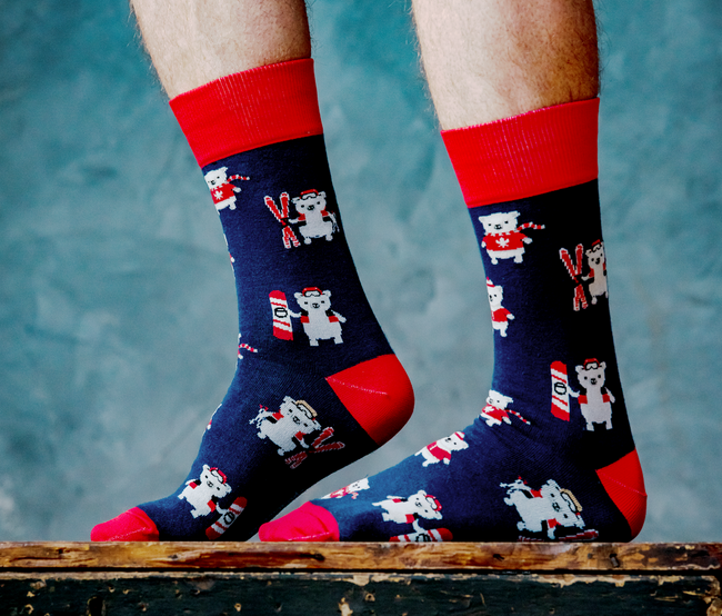 Canadian polar bear socks