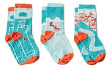 "Q for Quinn ""Quinn's Sports"" Anti-Slip Mix and Match Toddler Socks (3 pairs)"