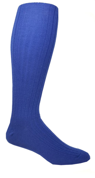 Vagden Men's Bermuda Knee-High Socks with Mercerized Cotton (3 PAIRS)
