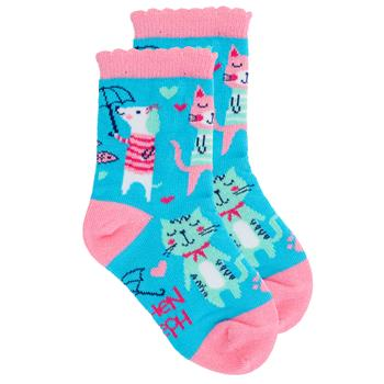 "Kids ""Cat"" Crew Socks by Stephen Joseph"