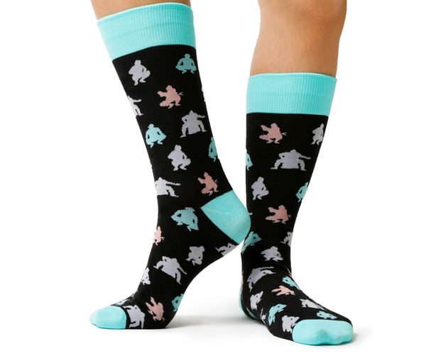 Men's Sumo Match Cotton Crew Socks by Uptown Sox