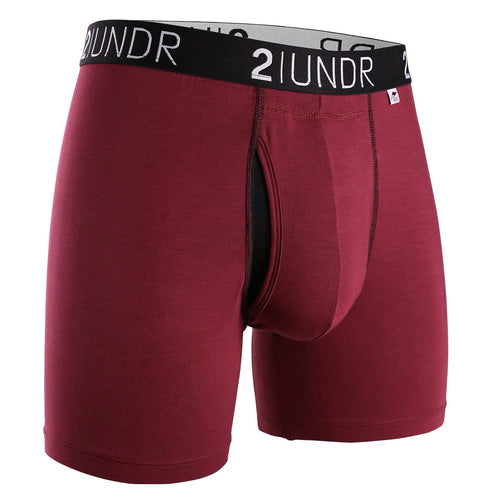 "2UNDR Swing Shift 6"" Boxer Brief - Burgundy"