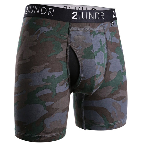 "2UNDR Swing Shift 6"" Boxer Brief - Dark Camo"