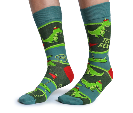 Men's Pizza Cotton Crew Socks by Uptown Sox