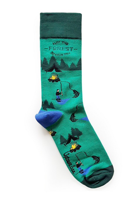 "Stance Men's ""Eddy"" Poly Blend Eagle Print Crew Socks"